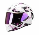 Moto přilba SCORPION EXO-510 AIR XENA pearl bílo/růžová