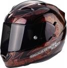 Moto přilba SCORPION EXO-1200 AIR FANTASY červený chameleon
