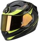 Moto přilba SCORPION EXO-1200 AIR FULMEN černá/chameleon/žlutá fluo