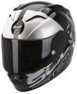 Moto přilba SCORPION EXO-1200 AIR QUARTERBACK černo/bílo/stříbrná
