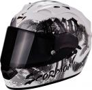 Moto přilba SCORPION EXO-1200 AIR TENEBRIS pearl bílo/stříbrná