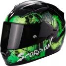 Moto přilba SCORPION EXO-1200 AIR TENEBRIS černo/zelená