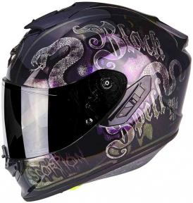 Moto přilba SCORPION EXO-1400 BLACKSPELL černý chameleon