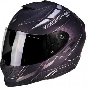 Moto přilba SCORPION EXO-1400 CUP černo/stříbrný chameleon matná