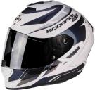 Moto přilba SCORPION EXO-1400 CUP perleťově bílo/modrý chameleon