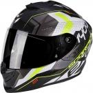 Moto přilba SCORPION EXO-1400 TRIKA bílo/černo/neonově žlutá