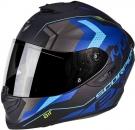 Moto přilba SCORPION EXO-1400 TRIKA matná černo/modrá