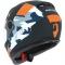 Moto přilba ASTONE GT2 ARMY matná černo/oranžová