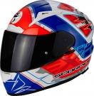 Moto přilba SCORPION EXO-2000 EVO AIR BRUTUS pearl bílo/neonově červeno/modrá