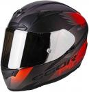 Moto přilba SCORPION EXO-2000 EVO AIR VOLCANO matná stříbrno/černo/neonově červená