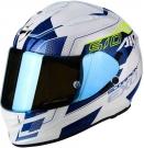 Moto přilba SCORPION EXO-510 AIR GALVA perleťově bílo/modrá