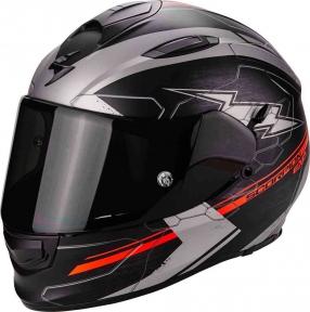 Moto přilba SCORPION EXO-510 AIR CROSS matná černo/stříbrno/neonově červená