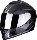 Moto přilba SCORPION EXO-1400 CARBON AIR ESPRIT černo/stříbrná