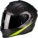 Moto přilba SCORPION EXO-1400 CARBON AIR PURE carbon/žlutá