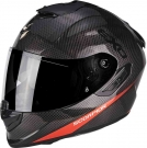 Moto přilba SCORPION EXO-1400 CARBON AIR PURE carbon/červená