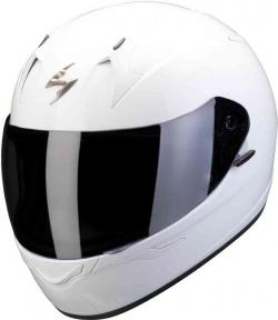 Moto přilba SCORPION EXO-390 solid bílá