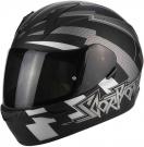 Moto přilba SCORPION EXO-390 PATRIOT matná černo/stříbrná