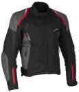 LUCAS red - pánská textilní moto bunda