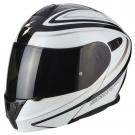 Moto přilba SCORPION EXO-920 RITZY černo/bílá