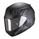 Moto přilba SCORPION EXO-390 ONEWAY matná černo/stříbrná