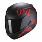 Moto přilba SCORPION EXO-390 ONEWAY matná černo/červená