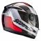 Moto přilba SCORPION EXO-490 TOUR bílo/červená