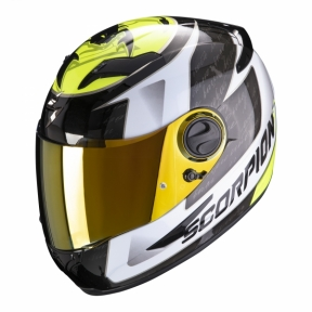 Moto přilba SCORPION EXO-490 TOUR bílo/neonově žlutá