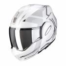 Moto přilba SCORPION EXO-TECH SQUARE perleťově bílo/stříbrná