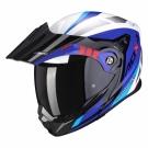 Moto přilba SCORPION ADX-1 LONTANO bílo/modro/červená