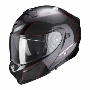 Moto přilba SCORPION EXO-930 CIELO perleťově černo/červená