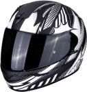 Moto přilba SCORPION EXO-390 POP matná černo/bílá