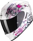 Moto přilba SCORPION EXO-1400 AIR TOA bílo/růžová