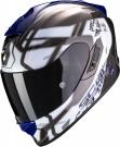Moto přilba SCORPION EXO-1400 AIR SPATIUM bílo/modrá