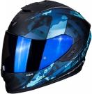 Moto přilba SCORPION EXO-1400 AIR SYLEX matná černo/modrá