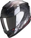 Moto přilba SCORPION EXO-1400 AIR SYLEX matná černo/stříbrno/červená