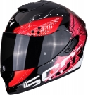 Moto přilba SCORPION EXO-1400 AIR CLASSY černo/červená