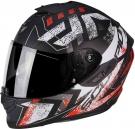 Moto přilba SCORPION EXO-1400 PICTA matná černo/neonově červená