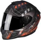 Moto přilba SCORPION EXO-1400 PICTA matná stříbrno/oranžová