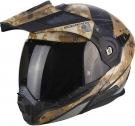 Moto přilba SCORPION ADX-1 BATTLEFLAGE pouštní camo