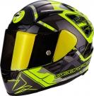 Moto přilba SCORPION EXO-2000 EVO AIR BRUTUS neonově žluto/stříbrná