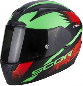 Moto přilba SCORPION EXO-2000 EVO AIR VOLCANO matná černo/neonově červeno/zelená